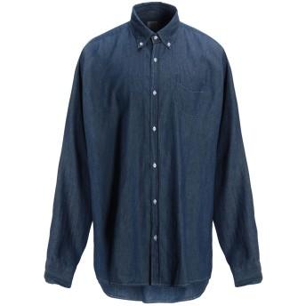 《期間限定 セール開催中》R3D W D メンズ デニムシャツ ブルー S コットン 100%