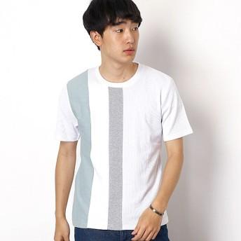 [マルイ]【セール】ストライプブロッキングTシャツ/メンズメルローズ(MEN'S MELROSE)