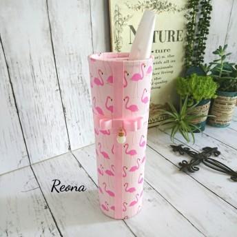 ピンクフラミンゴ ボトル型ティッシュケース
