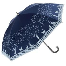 (BACKYARD FAMILY/BACKYARD FAMILY)ATTAIN アテイン 6478 6510 6511 晴雨兼用 裏シルバー 手開き 長傘 47cm/ユニセックス ネイビー系1