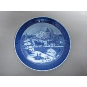 ロイヤルコペンハーゲン プレート レディース 新品同様 ブルー×ライトブルー×白 イヤープレート1999クリスマス 陶器【中古】