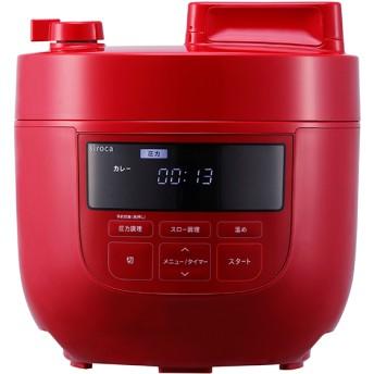 siroca SP-4D151(RD) レッド [電気圧力鍋 (1台6役/スロー調理機能付き)] その他調理家電