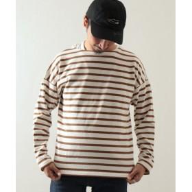 JOURNAL STANDARD relume 【19SS】ドライコットン ボーダーフレンチ ロングTシャツ ホワイト A L