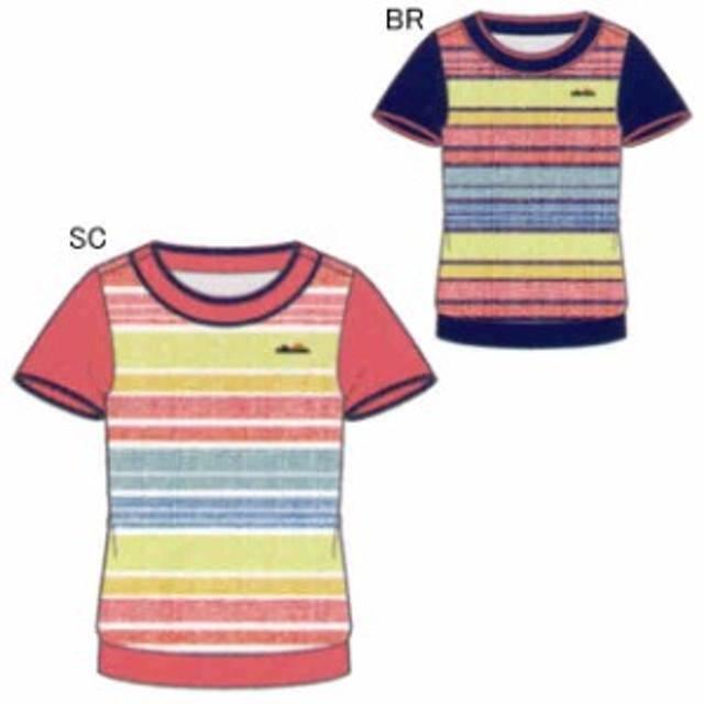 2352f6d71316c エレッセ テニス ユニホーム ゲームシャツ レディース ショートスリーブ ツアープラスクルー プリント EW08103P
