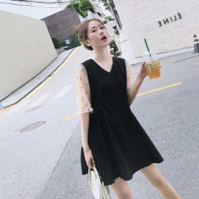 フレンチニッチドレス春と夏の新しい非常に人気の女性の女性の気質ウエストスリム人気のスカート