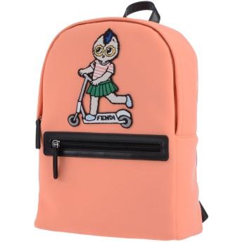 《期間限定セール開催中!》FENDI ガールズ 3-8 歳 バックパック&ヒップバッグ サーモンピンク 紡績繊維
