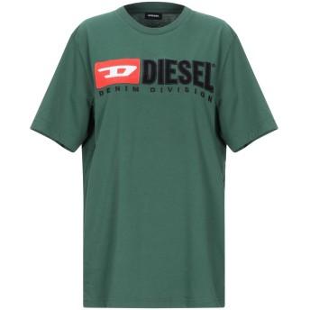 《セール開催中》DIESEL レディース T シャツ グリーン XS コットン 100%