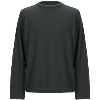 《セール開催中》LABO. ART メンズ T シャツ ダークグリーン 2 ウール 97% / ポリウレタン 3%