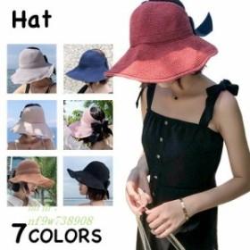 サンバイザー 帽子 レディース おしゃれ ハット つば広 日よけ 紫外線 柄 UVカット 無地