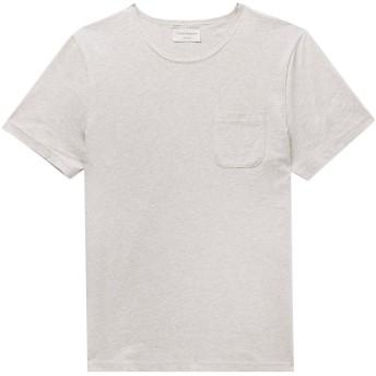 《9/20まで! 限定セール開催中》OLIVER SPENCER メンズ T シャツ ライトグレー M コットン 100%