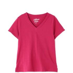 【公式/フリーズマート】カルフォルニアコットンVネックTシャツ/女性/カットソー/ピンク/サイズ:FR/コットン 100%