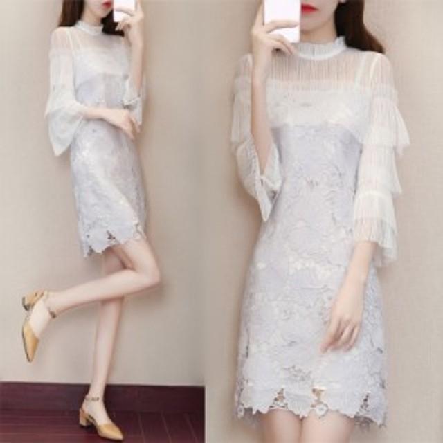 春の新しいファッションのスカートの夏の非常に妖精のフランスのニッチレースのドレスの女性の小さな新鮮な妖精のスカート