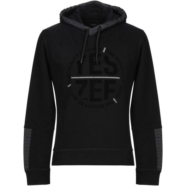 《期間限定 セール開催中》YES ZEE by ESSENZA メンズ スウェットシャツ ブラック S コットン 100%