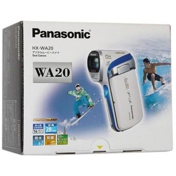 【中古】Panasonic 防水デジタルムービーカメラ HX-WA20-W 元箱あり