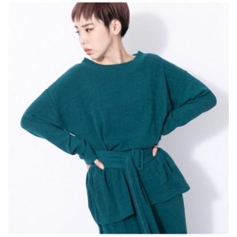 55%OFF OSMOSIS (オズモーシス) ベルトリブTシャツ GREEN