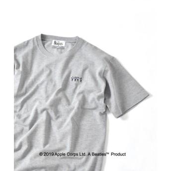 【37%OFF】 シップス SU: BEATLES 鹿の子 クルーネック Tシャツ メンズ グレー LARGE 【SHIPS】 【セール開催中】