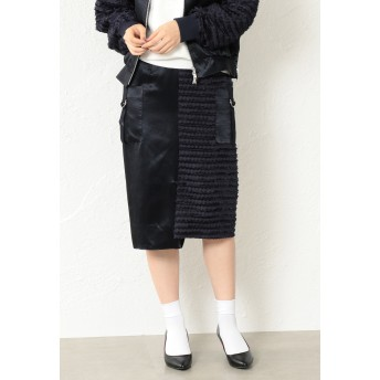 LOVELESS 【LOVELESS】WOMEN スプリットフリンジタイトスカート その他 スカート,ネイビー2