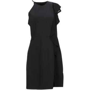 《セール開催中》ANNARITA N レディース ミニワンピース&ドレス ブラック 44 ポリエステル 95% / ポリウレタン 5%
