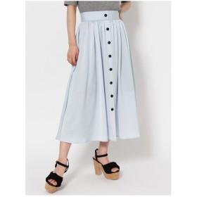 dazzlin フロントボタンマキシスカート パープル