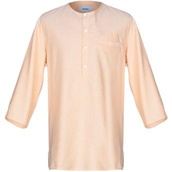 《9/20まで! 限定セール開催中》BONSAI メンズ シャツ あんず色 XL コットン 70% / ポリエステル 30%