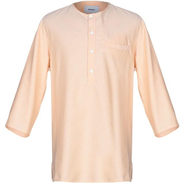 《期間限定セール開催中!》BONSAI メンズ シャツ あんず色 XL コットン 70% / ポリエステル 30%