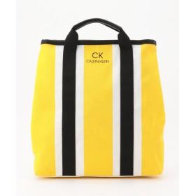 【オンワード】 CK CALVIN KLEIN MEN(CK カルバン・クライン メン) 【軽量素材】ストライプリュック兼用トート バッグ イエロー F メンズ 【送料無料】