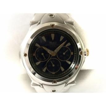 アルバ ALBA 腕時計 V14J-0AC0 メンズ トリプルカレンダー ネイビー【中古】