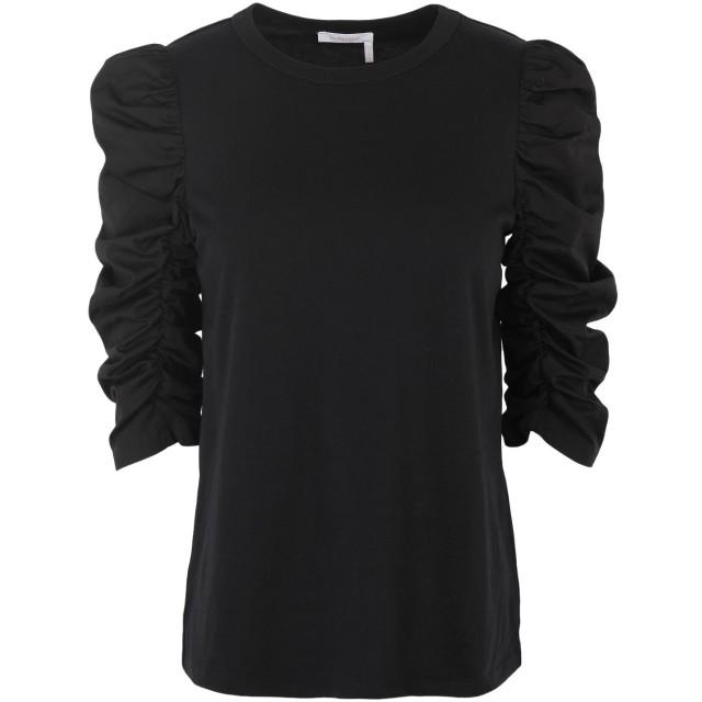 《期間限定セール開催中!》SEE BY CHLO レディース T シャツ ブラック S コットン 100%