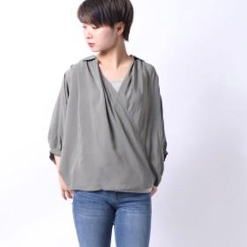 イェッカヴェッカ YECCA VECCA outlet 袖ボリューム2wayシャツ (カーキ)