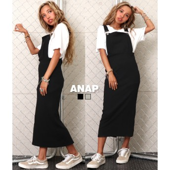 【セール開催中】ANAP(アナップ)リブタイトジャンバースカート