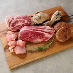 肉 前田牧場のファーマーズ BBQ 焼肉セット 2~3人前 800g 国産 栃木県産 牛肉 豚肉 鶏肉 焼き肉 前田牛