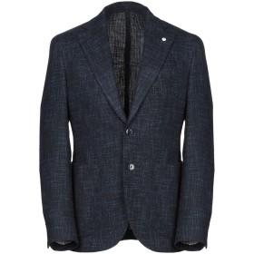 《期間限定セール開催中!》L.B.M. 1911 メンズ テーラードジャケット ダークブルー 50 コットン 40% / ウール 36% / ポリエステル 15% / ポリイミド 9%