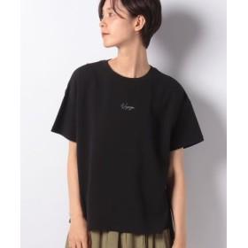 (LBC/エルビーシー)ワンポイント刺繍tee/レディース ブラック