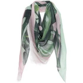 《期間限定 セール開催中》ALTEA レディース スカーフ グリーン レーヨン 50% / 麻 40% / シルク 10%