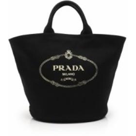 プラダ PRADA トートバッグ 黒 1BG162 キャンバス CANAPA バケツ型 レディース