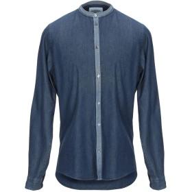《期間限定セール開催中!》DONDUP メンズ デニムシャツ ブルー L コットン 100%