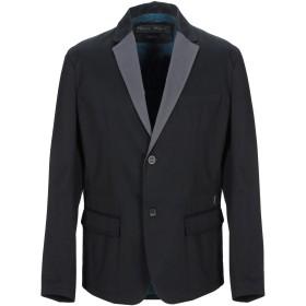 《期間限定 セール開催中》GUESS メンズ テーラードジャケット ブラック L コットン 98% / ポリウレタン 2%