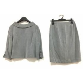 エムズグレイシー M'S GRACY スカートセットアップ サイズ9 M レディース 美品 ダークグレー×ライトグレー【中古】