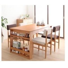 3段階 伸縮 テーブル カバーリング ダイニング humiel ユミル 5点セット(テーブル+チェア4脚) W120-180