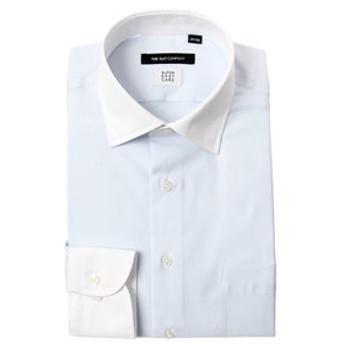 【THE SUIT COMPANY:トップス】【SUPER EASY CARE】クレリック&ワイドカラードレスシャツ〔EC・BASIC〕