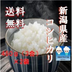 新米 ポイント消化 送料無料 450g 食品 米 お試し 令和元年産 新潟県産コシヒカリ450g×2袋 1kg未満 こしひかり