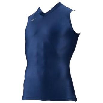 MIZUNO SHOP [ミズノ公式オンラインショップ] ドライアクセルバイオギアシャツ(Vネックノースリーブ)[メンズ] 14 ドレスネイビー 32MA8153