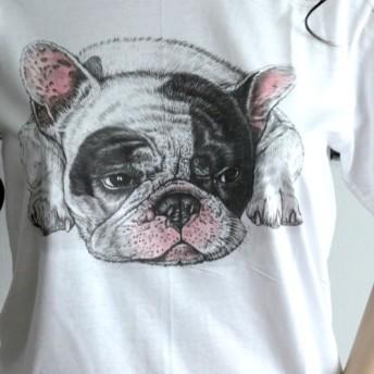 ★アニマルTシャツ★犬Tシャツ フレンチブルドッグ D5
