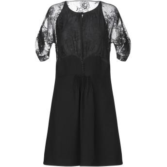 《セール開催中》MIU MIU レディース ミニワンピース&ドレス ブラック 44 コットン 70% / ナイロン 30%