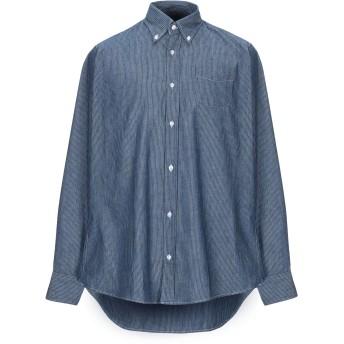 《期間限定 セール開催中》R3D W D メンズ デニムシャツ ブルー XL コットン 100%