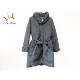 ティアクラッセ Tiaclasse ダウンコート サイズ9 M レディース 美品 黒 冬物/パイピング 新着 20190530