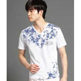 ニコルクラブフォーメン グラフィックプリントVネックTシャツ メンズ 91その他2 48(L) 【NICOLE CLUB FOR MEN】