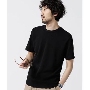 【45%OFF】 ナノ・ユニバース ラウンドワッフルショートスリーブTシャツ メンズ ブラック S 【nano・universe】 【タイムセール開催中】