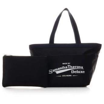 (Samantha Thavasa Deluxe/サマンサタバサデラックス)スポーティー ロゴトートバッグ/レディース ブラック 送料無料