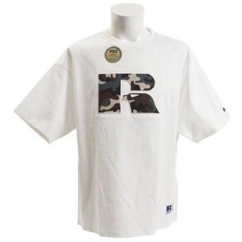 ラッセル(RUSSELL) 【オンライン特価】 PRO BIG 半袖Tシャツ CAMO EMB RBM19S0003 WHT (Men's)